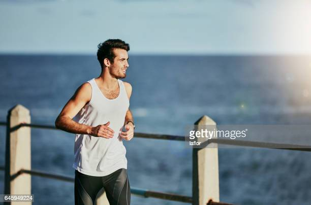 running is my escape - vest stock photos and pictures