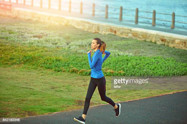 running is my meditation - long sleeved stock photos and pictures