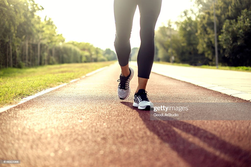 Running on tracks : Stock Photo