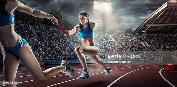 running pass on . stadium - passing sport stock pictures, royalty-free photos & images