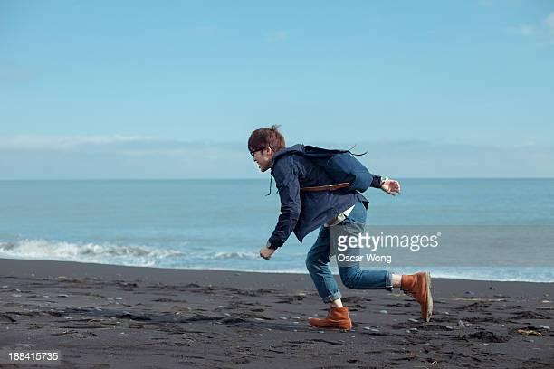 running - jeans photos et images de collection