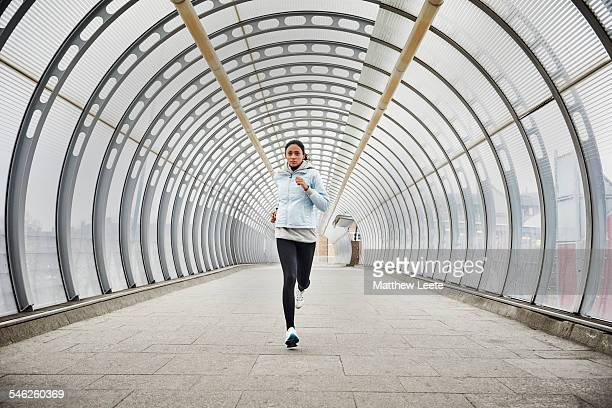 running - elevated walkway stock pictures, royalty-free photos & images