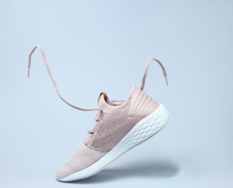 Running sports shoes with flying laces. 1141039478