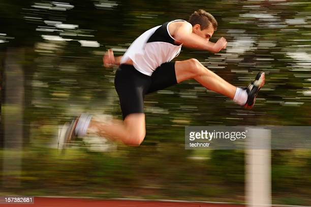 running the hurdle - hurdle stock photos and pictures