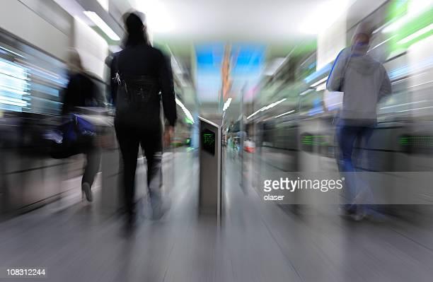 Running through subway gates