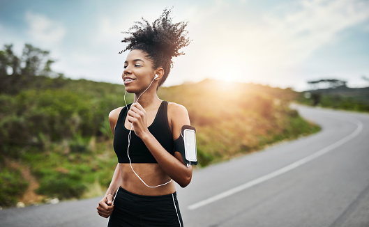 Running towards a healthier and happier lifestyle 1081528746