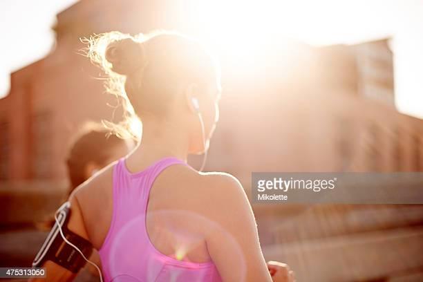 Running towards their fitness goals