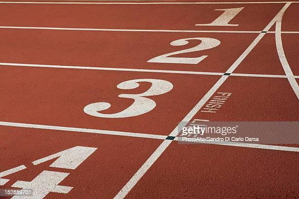 Running track lanes