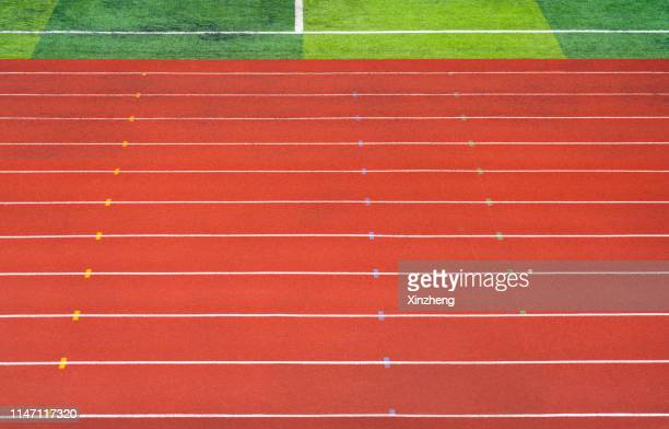 running track - track imprint stock photos and pictures