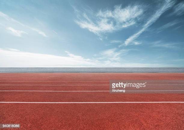running track - track and field stadium stock pictures, royalty-free photos & images