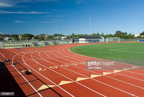 running track - track and field stock pictures, royalty-free photos & images
