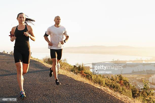 Running with music and a friend