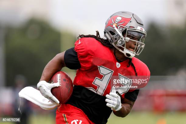 Runningback Jacquizz Rogers of the Tampa Bay Buccaneers works out during Training Camp at One Buc Place on July 30 2017 in Tampa Florida