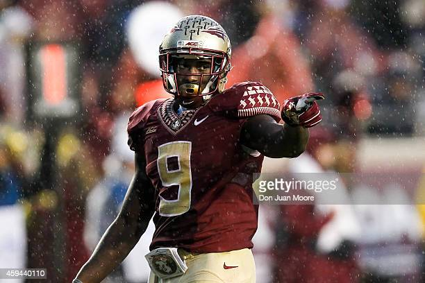 Runningback Karlos Williams of the Florida State Seminoles during the game against the Boston College Eagles at Doak Campbell Stadium on Bobby Bowden...