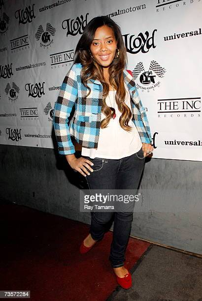 Run's House cast member Angela Simmons attends Lloyd's Street Love Album Release Party at Myst Nightclub March 13 2007 in New York City
