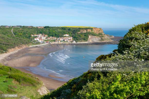 runswick bay, north yorkshire, england - north yorkshire stock pictures, royalty-free photos & images