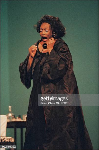 """Run-through of """"Erwartung and La voix humaine"""" starring by Jessye Norman in Paris."""