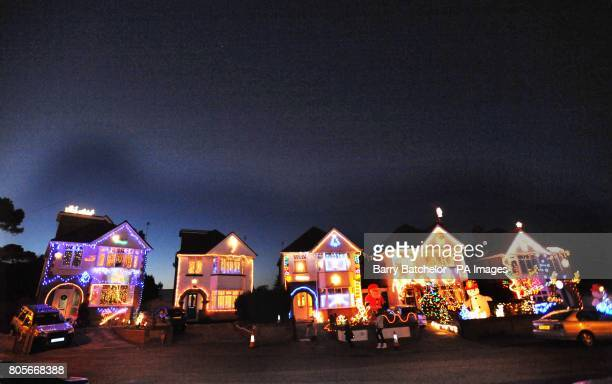 Runton Road in Branksome, Dorset - a quiet seaside cul-de-sac - has become something of a Christmas attraction as neighbours try to out-do each other...