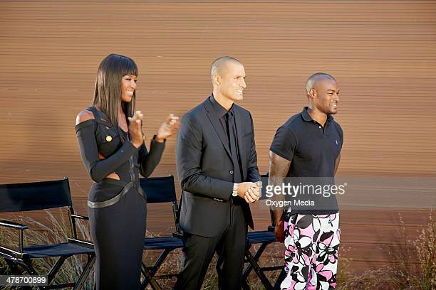 THE FACE Runway Dinner Party Episode 203 Pictured Supermodel Coach Naomi Campbell alongside Host Nigel Barker and Guest Tyson Beckford