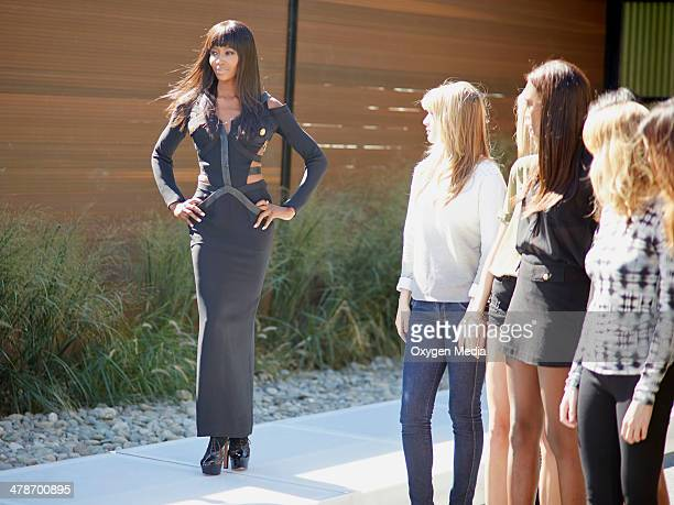 THE FACE Runway Dinner Party Episode 203 Pictured Supermodel Coach Naomi Campbell walking the runway
