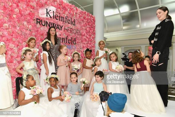 Runway Heroes Founder Rachel Goldman model Coco Rocha Ioni James Conran and cancer fighters and survivors prepare for runway show during Runway...