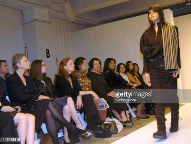 Runway model during MercendesBenz Shows LA Paul Hardy at Standard Hotel in Los Angeles California United States