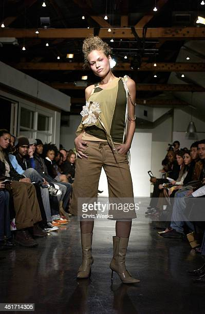 Runway Model during Private by Freddie Rojas at The Lot in Hollywood California United States