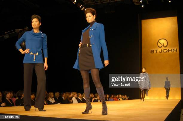 Runway show during Fall 2003 St John Runway at Bren Event Center UC Irvine in Irvine California United States