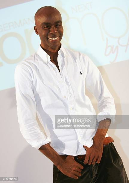Runway trainer Bruce Darnell poses during the Germanys next Topmodel Night photocall on January 10 2007 in Hamburg Germany