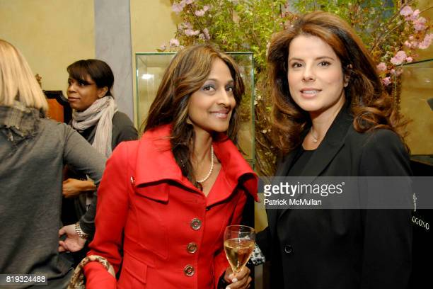 Rupa Mikkilinani and Emel Dilek attend de Grisogono hosts The Central Park Conservancy's Platinum Jewels in Bloom Cocktail Reception at de Grisogono...