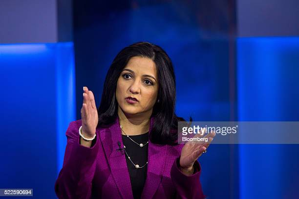 Rupal Bhansali chief investment officer for global equities at Ariel Investments LLC speaks during a Bloomberg Television interview in New York US on...