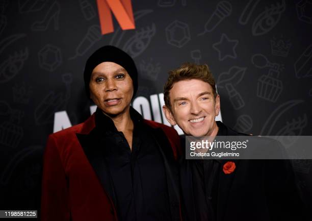 RuPaul and director Michael Patrick King attend the premiere of Netflix's AJ and the Queen Season 1 at the Egyptian Theatre on January 09 2020 in...