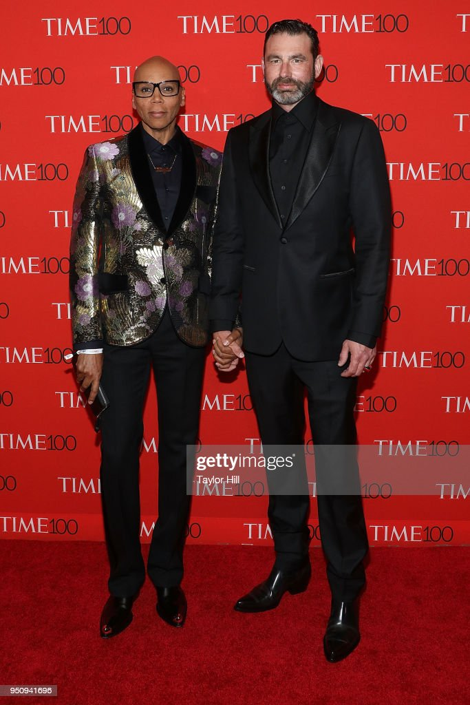 RuPaul and Georges LaBar attend the 2018 Time 100 Gala at Frederick P. Rose Hall, Jazz at Lincoln Center on April 24, 2018 in New York City.