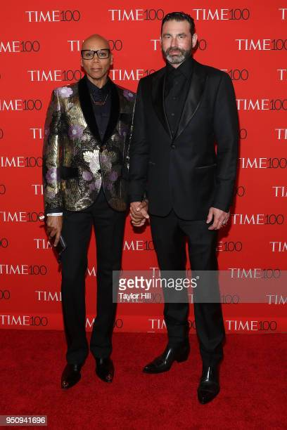 RuPaul and Georges LaBar attend the 2018 Time 100 Gala at Frederick P Rose Hall Jazz at Lincoln Center on April 24 2018 in New York City
