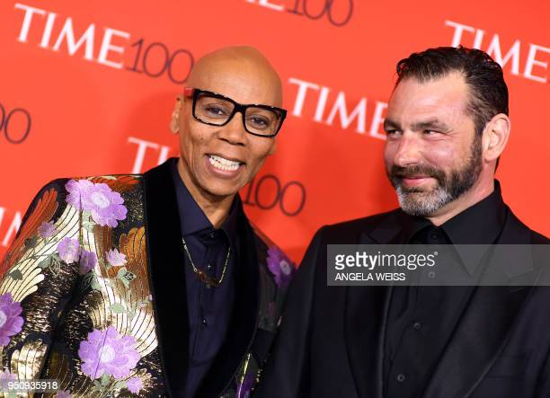 RuPaul and husband Georges LeBar attend the TIME 100 Gala celebrating its annual list of the 100 Most Influential People In The World at Frederick P...