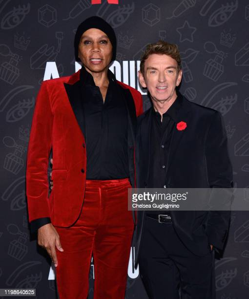 RuPaul and Michael Patrick King attend the premiere of Netflix's AJ and the Queen Season 1 at the Egyptian Theatre on January 09 2020 in Hollywood...