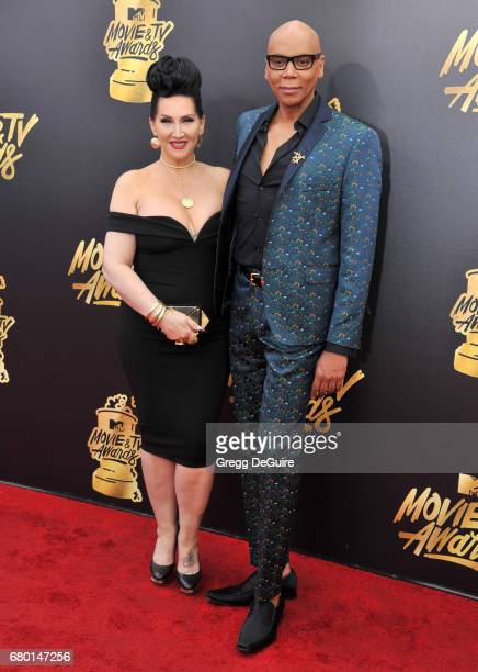 RuPaul and Michelle Visage arrive at the 2017 MTV Movie And TV Awards at The Shrine Auditorium on May 7 2017 in Los Angeles California