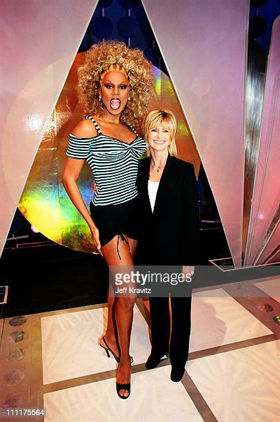 Rupaul and Olivia Newton John during On set with Rupaul and VH1 at Hollywood Center Studios in Hollywood California