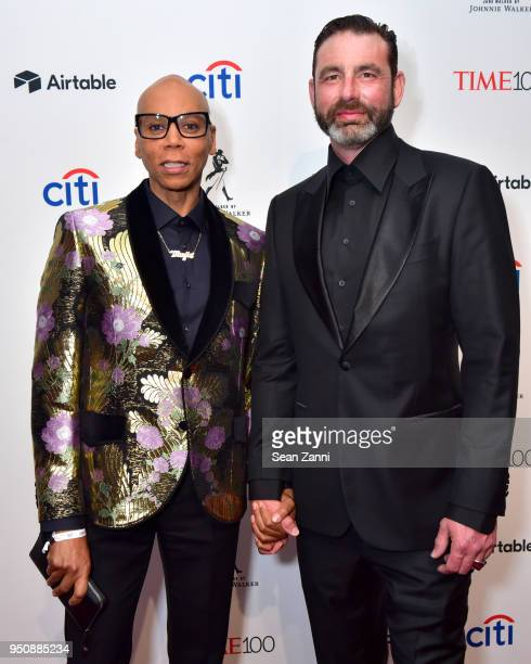 RuPaul Andre Charles and George LeBar attend the 2018 TIME 100 Gala at Jazz at Lincoln Center on April 24 2018 in New York City