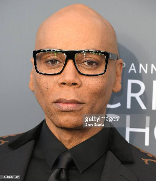 RuPaul arrives at the The 23rd Annual Critics' Choice Awards at Barker Hangar on January 11 2018 in Santa Monica California