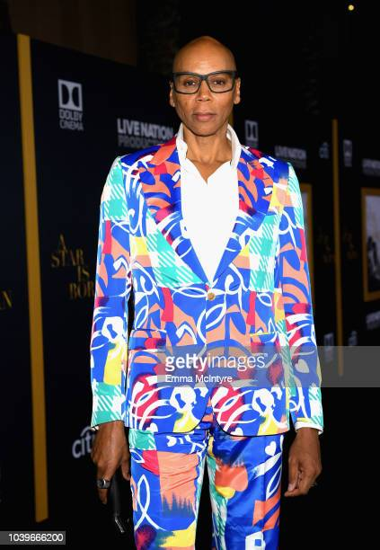RuPaul arrives on the red carpet at the Premiere Of Warner Bros Pictures' A Star Is Born at The Shrine Auditorium on September 24 2018 in Los Angeles...