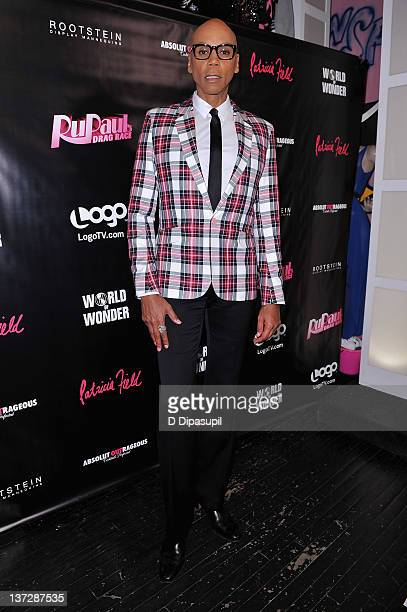 RuPaul attends Logo's 'RuPaul Drag Race' Premiere Party at Patricia Field Boutique on January 18 2012 in New York City