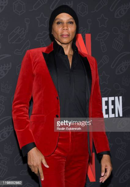 RuPaul attends Premiere of Netflix's AJ and the Queen Season 1 at the Egyptian Theatre on January 09 2020 in Hollywood California