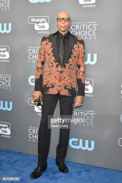 RuPaul attends The 23rd Annual Critics' Choice Awards Arrivals at The Barker Hanger on January 11 2018 in Santa Monica California