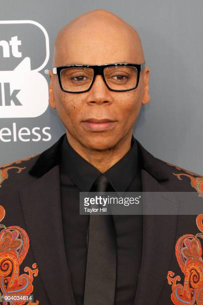 RuPaul attends the 23rd Annual Critics' Choice Awards at Barker Hangar on January 11 2018 in Santa Monica California