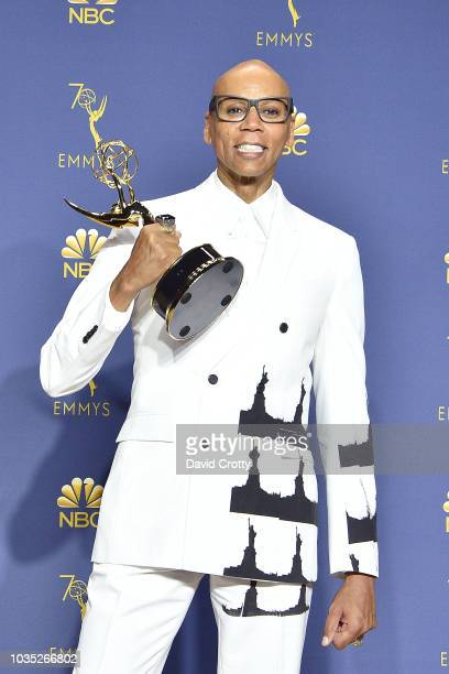 RuPaul attends the 70th Emmy Awards Press Room at Microsoft Theater on September 17 2018 in Los Angeles California