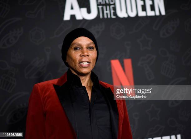 RuPaul attends the premiere of Netflix's AJ and the Queen Season 1 at the Egyptian Theatre on January 09 2020 in Hollywood California