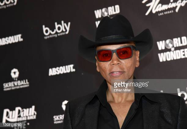 """RuPaul attends the world premiere of """"RuPaul's Drag Race Live!"""" at Flamingo Las Vegas on January 30, 2020 in Las Vegas, Nevada."""