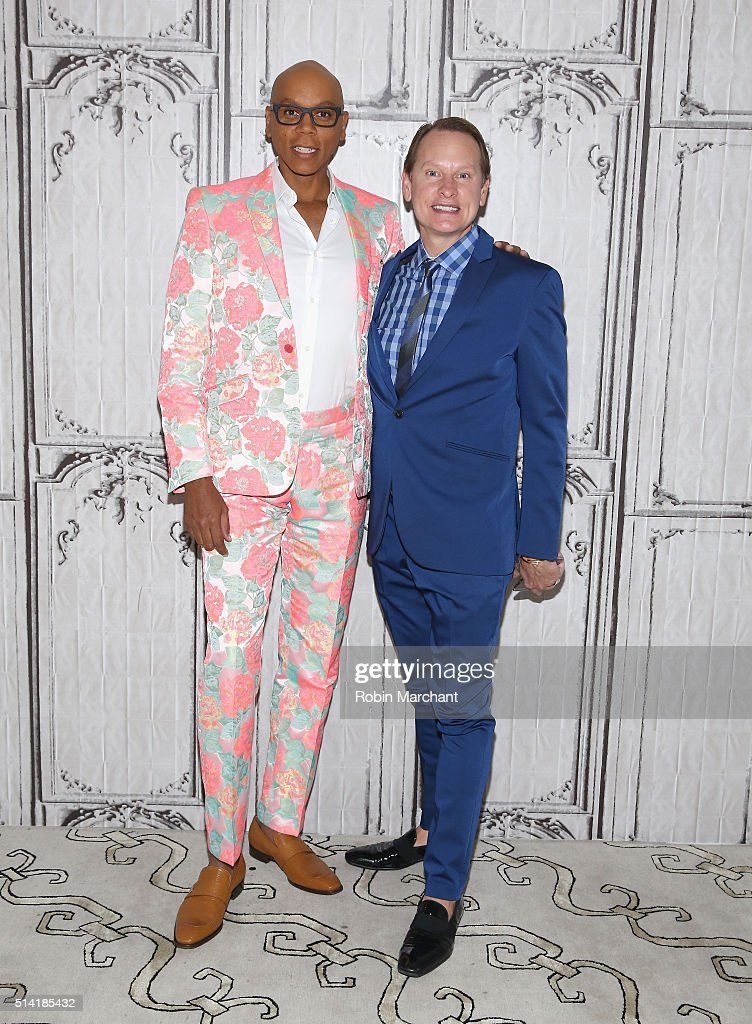 RuPaul Charles and Carson Kressley attend AOL Build Speakers Series RuPaul, 'RuPaul's Drag Race' at AOL Studios In New York on March 7, 2016 in New York City.