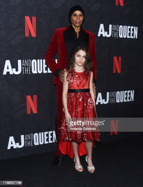 RuPaul Charles and Izzy G arrive at the premiere of Netflix's AJ And The Queen Season 1 at the Egyptian Theatre on January 09 2020 in Hollywood...